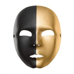 Egész álarc arany-fekete