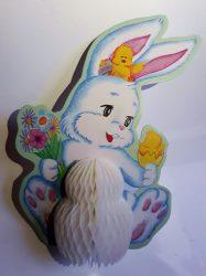 Húsvéti nyuszi, darázsfészkes mintával 20 cm magas