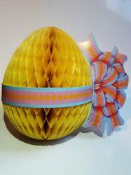 Húsvéti tojás, darázsfészkes mintávalsárga