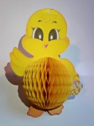 Húsvéti csibei, darázsfészkes mintával 20 cm magas