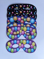 Papír szemüveg álarc színes