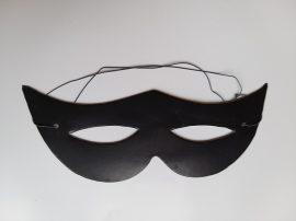 Papír szemüveg álarc fekete
