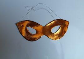 Papír szemüveg álarc arany