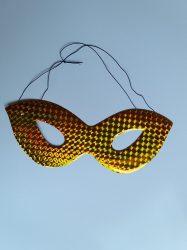 Papír szemüveg álarc holografikus  arany