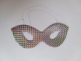 Papír szemüveg álarc holografikus  ezüst