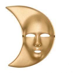 Hold egész álarc, arany