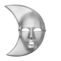 Hold egész álarc, ezüst