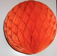 Darázsfészkes gömb, papír 30 cm narancssárga