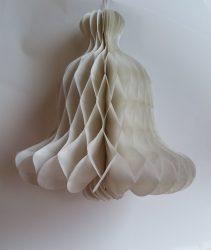 Papír Harang dísz 30 cm fehér