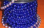 Gyöngyfüzér gurigán 8 mm-es 10 m kék