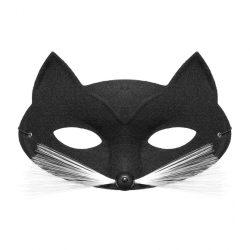 Bajszos cica álarc fekete