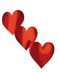 Szív dekoráció papírból  3 db-os csomag