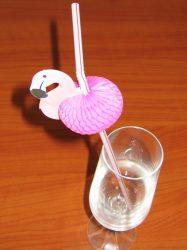 Szívószál, flamingós