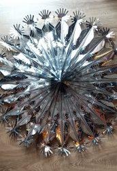 Metál fényű óriás hópehely, 90 cm