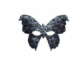 Csipkés fekete lepke álarc