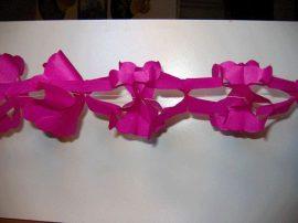 Hálós papír girland 6 színben