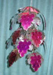 Metálfólia dekoráció,  szőlős