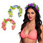 Virágos hawaii hajpánt 3 színben