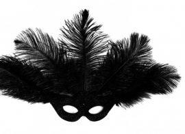Nagy strucctollas fekete szemüveg álarc