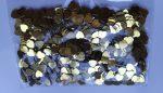 Szilveszteri fólia konfetti arany szív, 10 gramm