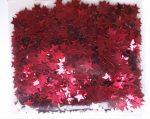 Szilveszteri fólia konfetti piros csillag, 10 gramm