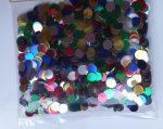 Szilveszteri fólia konfetti színes pötty, 10 gramm