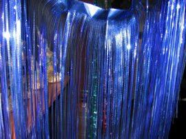 Dekorációs lametta függöny 90x60 cm 3 színben