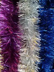 Tripla szövésű karácsonyi boa  ezüst, kék, lila