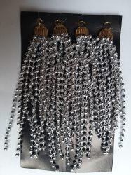 Gyöngy fürtdísz 14cm ezüst