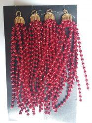 Gyöngy fürtdísz 14cm piros