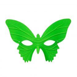 Lepke álarc zöld