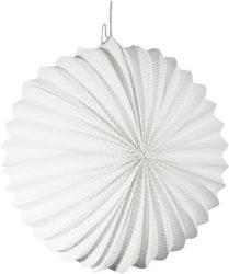Papír lampion, 22 cm-es nehezen gyulladó fehér