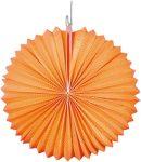 Papír lampion, 22 cm-es nehezen gyulladó narancssárga