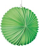Papír lampion, 22 cm-es nehezen gyulladó zöld