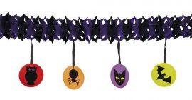 Fekete, állatos papír halloween girland