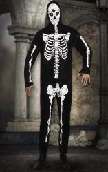 Csontváz mintájú kezeslábas