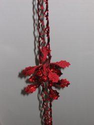 Metál fényű 270 cm-es girland, műanyag