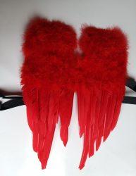 Angyalszárny tollból 45x30cm piros