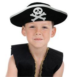 Kalóz kapitány gyerek filc kalap