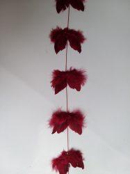 Angyalszárny girland 16 db szárnnyal (7cm) bordó