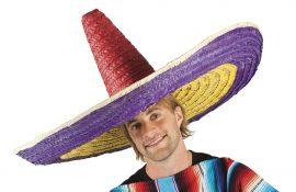 Eredeti mexikói sombrero kalap, színes 100 cm