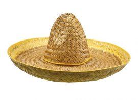 Sombrero kalap sárga színben 50 cm