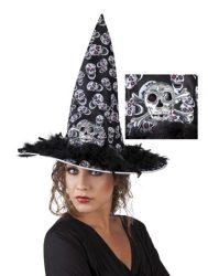 Boszorkány kalap koponyával