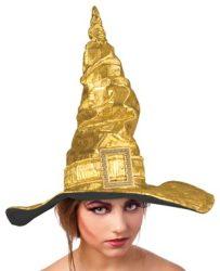 Boszorkány kalap  arany 44 cm