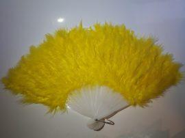 Marabutoll legyező 21 bordás citrom színben