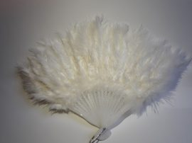 Marabutoll legyező 21 bordás fehér színben