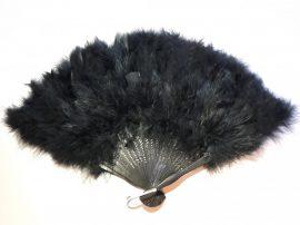 Marabutoll legyező 21 bordás fekete színben