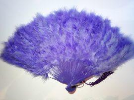 Marabutoll legyező 21 bordás lila színben