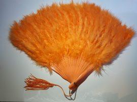 Marabutoll legyező 21 bordás narancs színben