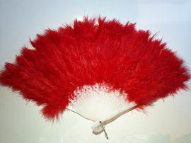 Marabutoll legyező 21 bordás piros színben